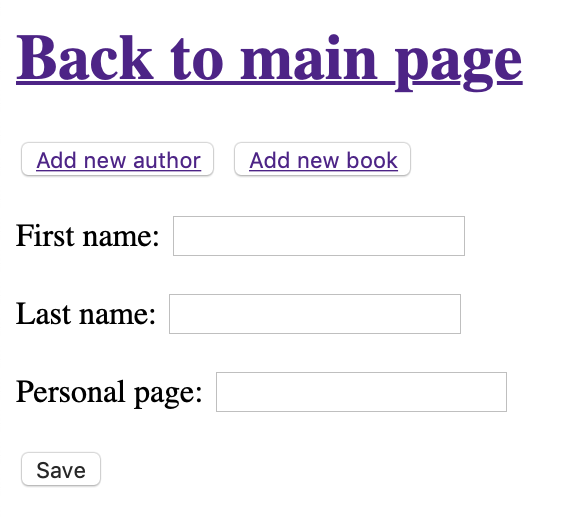 Creating author form