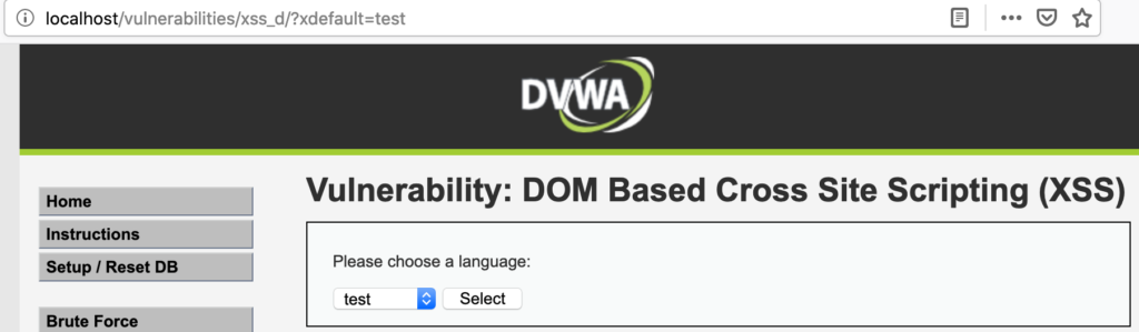 Bypassing DVWA's hard DOM XSS filter