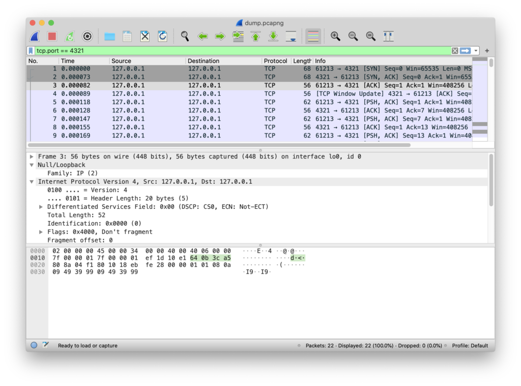 Wireshark saving data in pcap file for further analysis with scapy