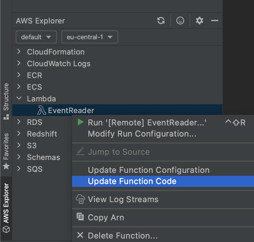 EventReader function showing up in the PyCharm.