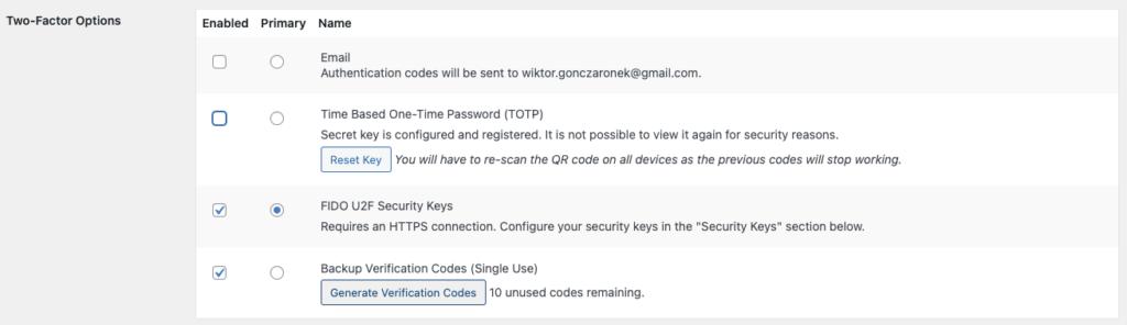 Using Yubikey against phishing attacks: WordPress panel setup.